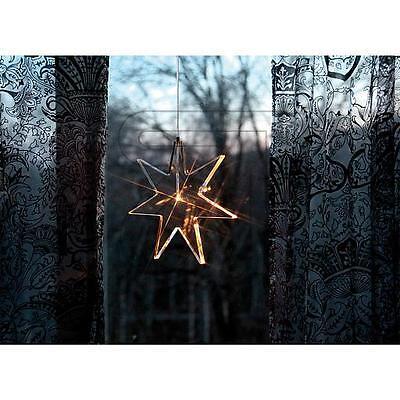 Weihnachtsstern LED Acrylstern transparent 25cm Stern Fensterlicht neu