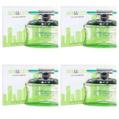 Sex In The City Kiss 3.4oz  Women's Perfume 4pcs