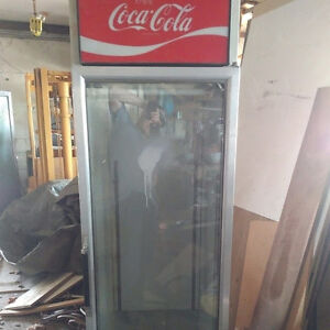 Antique Coke stand up chest refrigerator