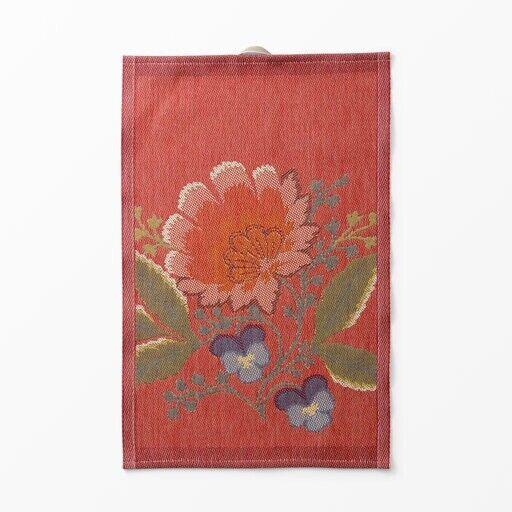 Swedish Ekelund Tea Towel Folk Art Flower Christmas
