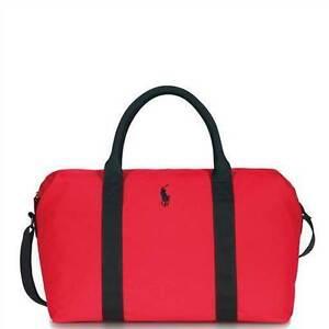 ff1755b386 Polo Ralph Lauren Red Black Duffle Holdall Gym Weekend Overnight Bag ...