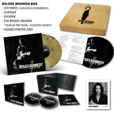 MYLES KENNEDY Year Of The Tiger Limited Ed Deluxe Wooden Boxset SIGNED cd vinyl