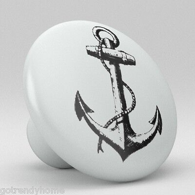 Ocean Anchor Sailing Ceramic Knobs Pulls Drawer Cabinet Vanity Closet 919 Pantry ()