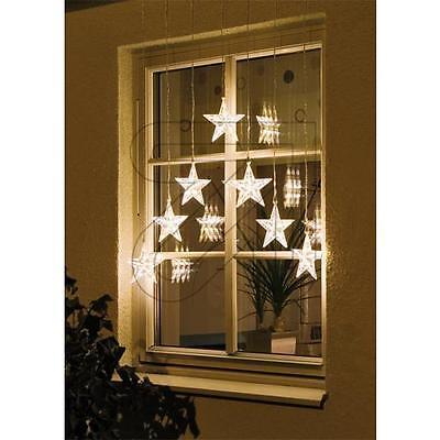 LED Cortina de Estrellas Exterior Uso Al Aire Libre Grande Luces Navidad...