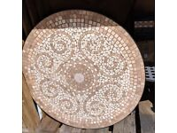 M & S mosaic garden table with 4 chairs