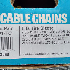 """Never Been Used Heavy Duty """"Laclede"""" Cable Chains"""