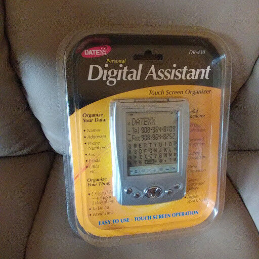 DateXX Personal Digital Assistant  Touch Screen Organizer  Model  DB-430