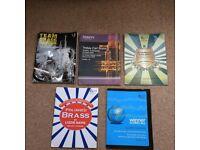 Various brass instrument sheet music books £2 each