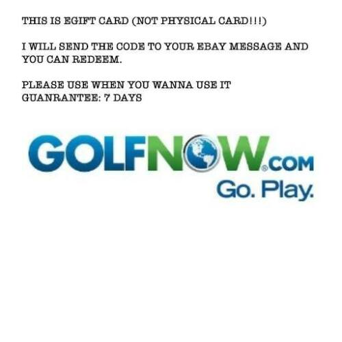 $100 GOLFNOW Gift Card (READ THE DESC IN THE PICS)