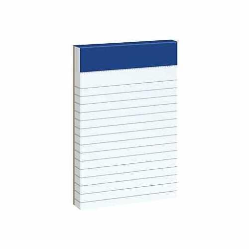 """Ampad Notepads 3"""" x 5"""" Narrow White 50 Sheets/Pad 420578"""