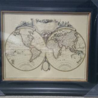 Framed world map gumtree australia free local classifieds world map wall art gumiabroncs Image collections