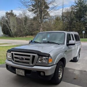 2010 ford ranger super cab GREY with matching  cap low kms
