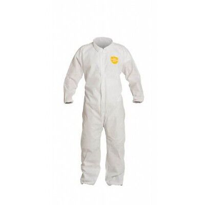 1 Pc Dupont White Disposable ProShield Coverall Suit W/Elastic Wrist/Ankles 3XL (Dupont Proshield 1 Coveralls)