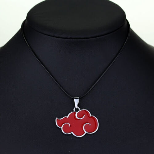 Naruto Necklace, Japanese Anime Cosplay Akatsuki organization cloud sign metal