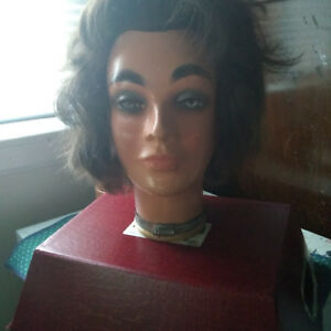 Vintage Mannequin head with real hair/plaster  $70 or B/O