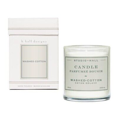 K Hall Designs 60-Hour Vegetable Wax Candle - Washed -