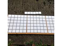 White gloss small mosaic tiles - 2 full sheets & 1 half sheet