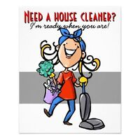 House Cleaner - Gloucester, Orleans, Rockcliffe, New Edinburgh