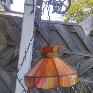 Vintage Stained Glass Hanging Lights