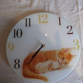 Ginger Kitten Clock