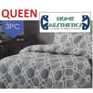 NEW 3PC COMFORTER SET QUEEN HA-1216Q 247743997 HOME AESTHETICS 100% POLYESTER BEDDING BEDROOM
