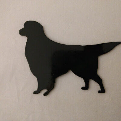 - Golden Retriever Refrigerator magnet black silhouette Made in the USA