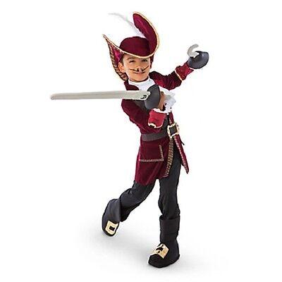 CAPTAIN HOOK~Costume~Jacket+Pant+Dickie+HAT+SWORD+HOOK~NWT~Disney Store~2016](Boys Captain Hook Costume)