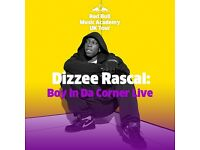 4 Dizzee Rascal Standing tickets- London - Saturday 22nd October *SOLD OUT*