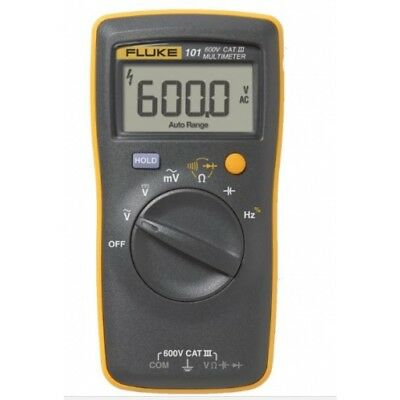 Digital Multimeter Cat - NEW Fluke 101 Basic Handheld and Easily Carried Digital Multimeter CAT III 600V