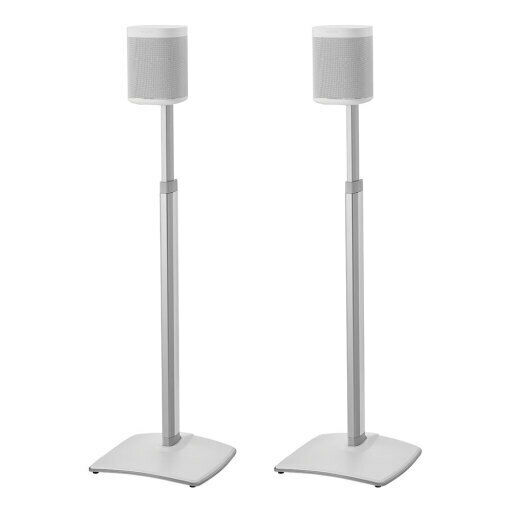 Sanus WSSA2 Adjustable Height Wireless Speaker Stands designed for SONOS ONE, So