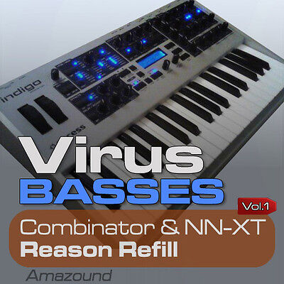 Access Virus Basses Reason Refill 311 Comb & Nnxt Patches 2512 Samples...