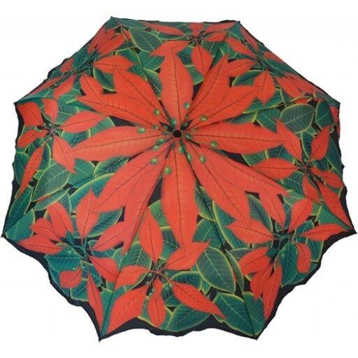 """Artbrollies """"POINSETTA""""  Manual Open Close Folding Umbrella"""