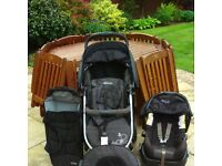 Grey Graco Quattro Sport Travel System - Used Very Good Condition