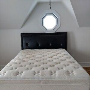 Queen Size Bed, Headboard, Mattress, Box Spring