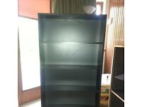 Black bookcase with five shelves
