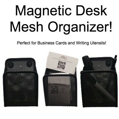 Magnetic Desk Organizer Mesh Style Desktop Office Pencil Pen Storage Holder