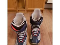 Burton Breed Navy/Grey Size 8 Snowboard Boots. In great condition!