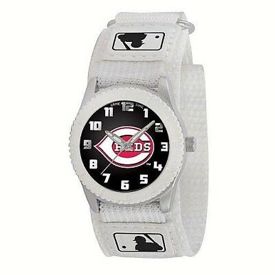 CINCINNATI REDS Game Time MLB Fan WATCH Youth ROOKIE WHITE Series NEW Baseball