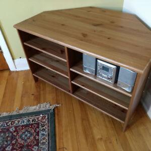 Structube Wooden Corner Shelf/Table