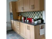 Kitchen Units including worktops used found as seen new kitchen t fit