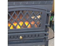 Freestanding cast iron electric fire
