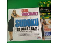 Carol Vorderman's Sudoku Board Game, Book and 3D Puzzle Flip Pad