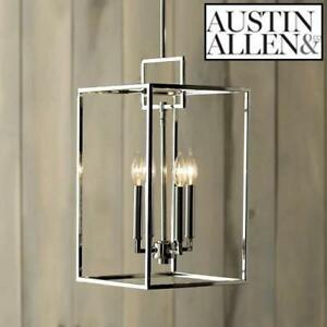 NEW 4 LIGHT FOYER PENDANT 9B215A 227157739 AUSTING ALLEN LIGHTING FIXTURE ABREGO POLISHED NICKEL