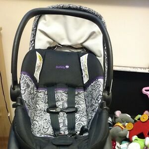 Infant bucket car seat, base and stroller and car seat
