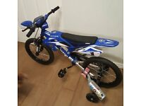 boys moto style push bike