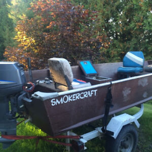 14 Foot Smoker Craft Boat with 30 horsepower Yamaha outboard