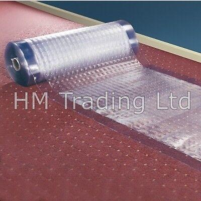 Custom Cut Anti Slip Textured Carpet Protector Roll Runner Film Clear Dust Sheet