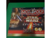 Monopoly Star Wars Episode 1 Collector Edition with pewter figures