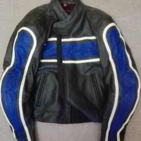 leather motor bike jacket,trousers and boots