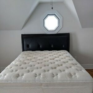 Queen Size Bed, Headboard, Mattress, Box Spring